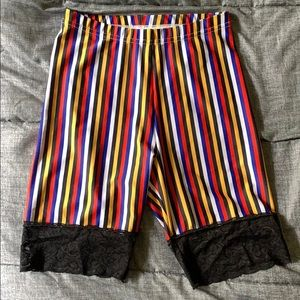 AA Striped Lace Bicycle Short